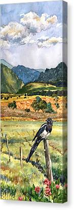 Magpies Canvas Print - Magpie by Anne Gifford