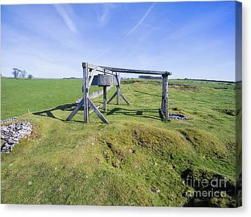 Magpie Mine, Mine, Lead Mine, Derbyshire, Peak District, Mining, Canvas Print by Steev Stamford