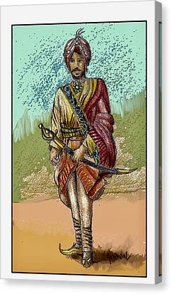 Sikh Art Canvas Print - Maharajah Daleep Singh Portrait  by Sukhpal Grewal