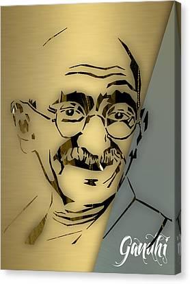 People Changing History Mahatma Gandhi Canvas Print