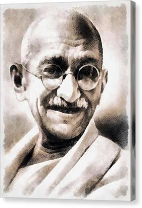 Mahatma Gandhi Canvas Print by John Springfield