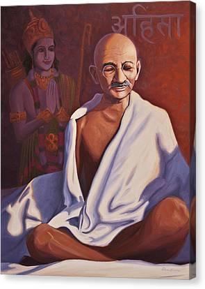 Mahatma Gandhi Canvas Print by Steve Simon