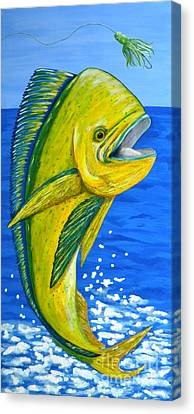 Mahi Mahi Canvas Print by JoAnn Wheeler