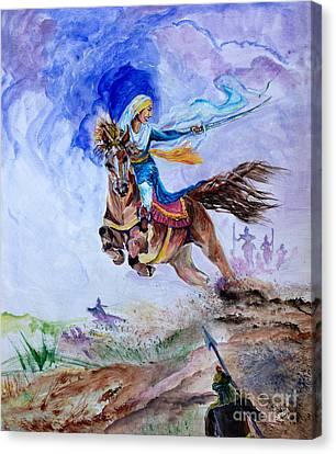 Sikh Art Canvas Print - Mai Bhago by Sarabjit Singh