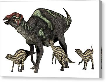 Maiasaurus Good Mother Canvas Print by Corey Ford