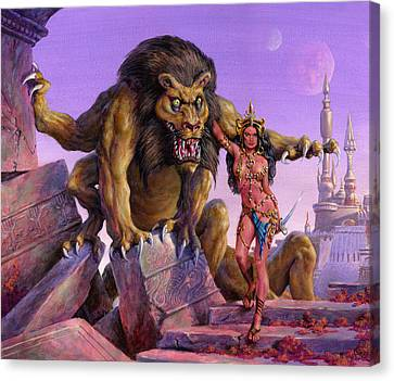 Maid Of Mars Canvas Print by Richard Hescox