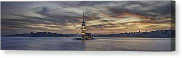 Maiden Tower Canvas Print by Rilind Hoxha