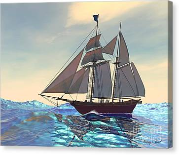 Maiden Voyage Canvas Print by Corey Ford