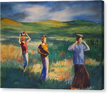 Maidens Three Canvas Print by Becky Chappell