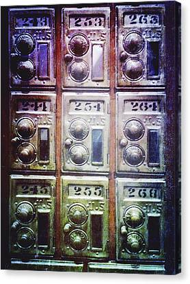 Mail Boxes Canvas Print by Skip Nall