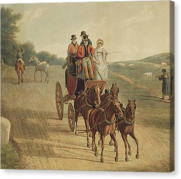 Mail Coach Canvas Print by Frederick Christian Lewis