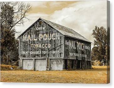 Amish Country Canvas Print - Mail Pouch Barn - Us 30 #3 by Stephen Stookey
