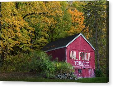 Rural Canvas Print - Mail Pouch Tobacco by Bill Wakeley