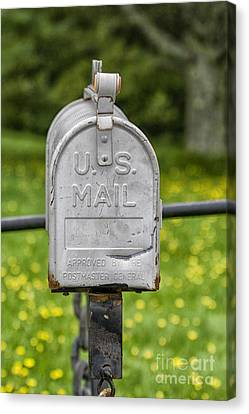 Mailbox Canvas Print by Patricia Hofmeester