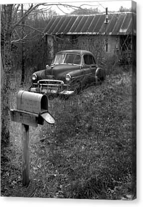 Canvas Print featuring the photograph Mailboxcar by Curtis J Neeley Jr