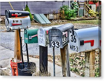 Mailboxes Canvas Print by Paul Ward