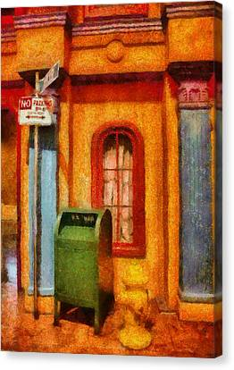 Mailman - No Parking Canvas Print by Mike Savad