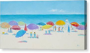 Sandy Beach Canvas Print - Main Beach East Hampton  by Jan Matson