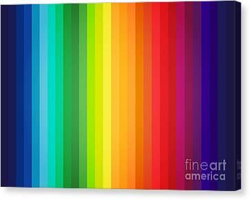 Main Colors Palette Spectrum Canvas Print