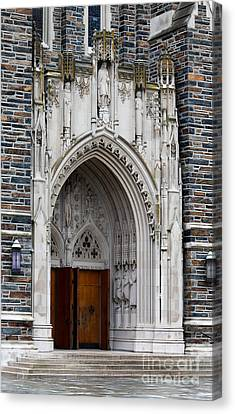 Main Entrance To Duke Chapel Canvas Print by Robert Yaeger