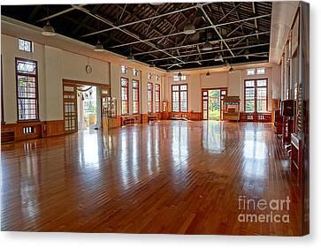 Main Room Of The Wu De Martial Arts Hall Canvas Print by Yali Shi