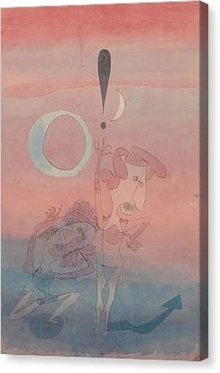 Main Scene From The Ballet The False Oath Canvas Print by Paul Klee
