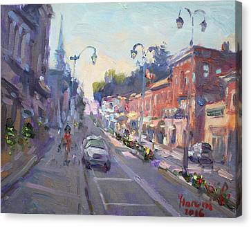 Main St Georgetown Downtown  Canvas Print by Ylli Haruni