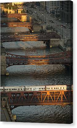 Main Stem Chicago River Canvas Print by Steve Gadomski
