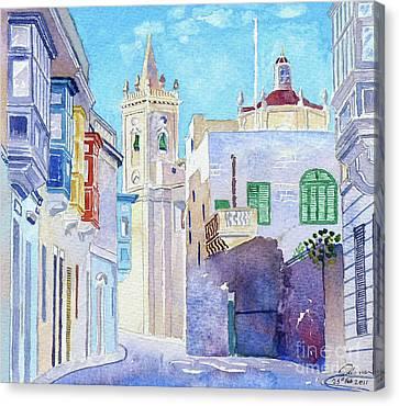 Main Street Balzan Malta Canvas Print