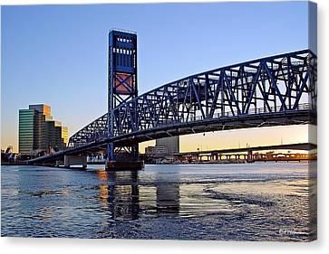 Main Street Bridge At Sunset Canvas Print by Rick Wilkerson