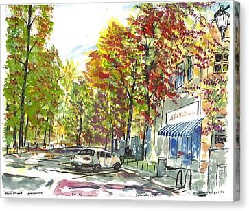 Main Street Greenville Fall Canvas Print