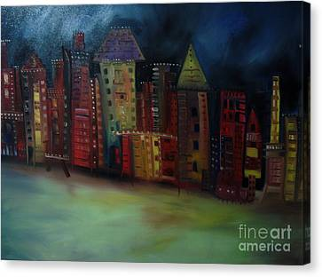 Main Street Canvas Print by Maria Curcic
