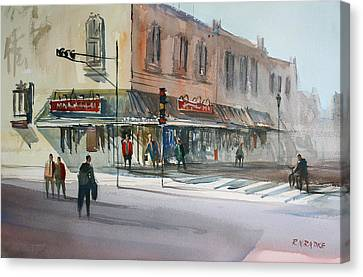 Main Street Marketplace - Waupaca Canvas Print by Ryan Radke
