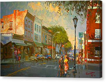 Main Street Nyack Ny  Canvas Print by Ylli Haruni