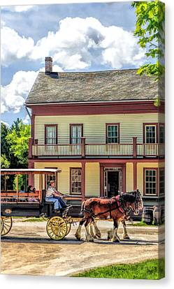 Main Street Of A Bygone Era At Old World Wisconsin Canvas Print by Christopher Arndt