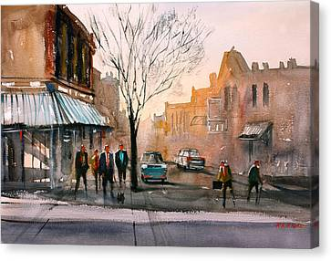 Main Street - Steven's Point Canvas Print by Ryan Radke
