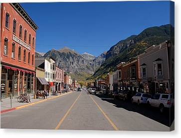 Main Street Telluride Canvas Print by David Lee Thompson
