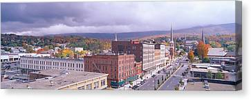 Main Street Usa, North Adams Canvas Print by Panoramic Images