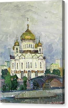 Main Temple Of Russia Canvas Print by Juliya Zhukova