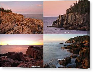 Maine Acadia National Park Seacoast Photography Canvas Print by Juergen Roth