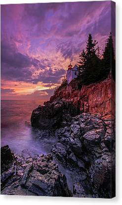 Maine Bass Harbor Lighthouse Canvas Print by Juergen Roth