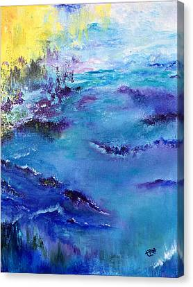 Maine Coast, First Impression Canvas Print