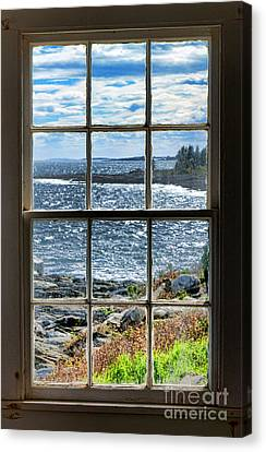 Maine Coast Picture Frame Canvas Print