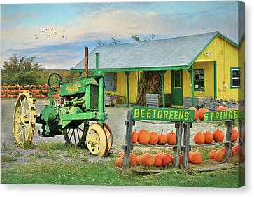 Maine Farm Market Canvas Print by Lori Deiter