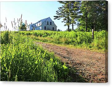 Maine Farmhouse Canvas Print - Maine House by Laurie Breton