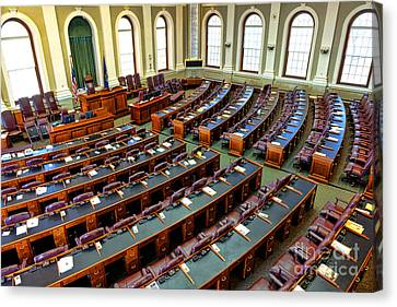 Maine House Of Representatives Chamber Canvas Print