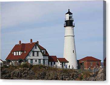 Maine Light House Canvas Print by Sue Mayor