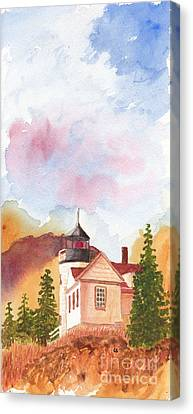 Maine Lighthouse In Morning Light Canvas Print