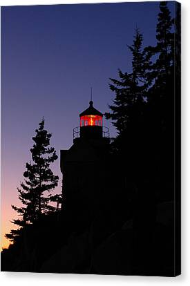 Maine Lighthouse Canvas Print by Juergen Roth