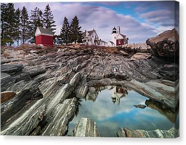 Maine Pemaquid Lighthouse Reflection Canvas Print